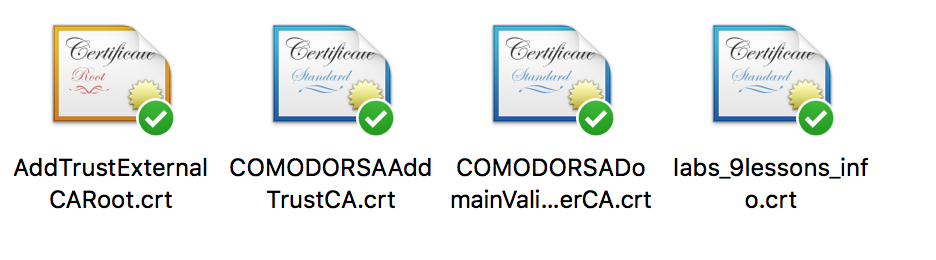 COMODO SSL Certificate Installation A+ Rating.