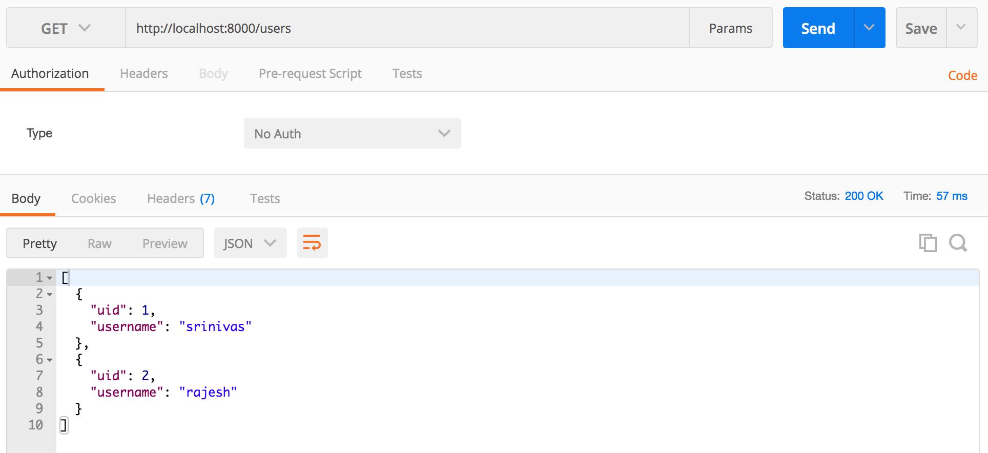 Create RESTful API NodeJS user Mysql