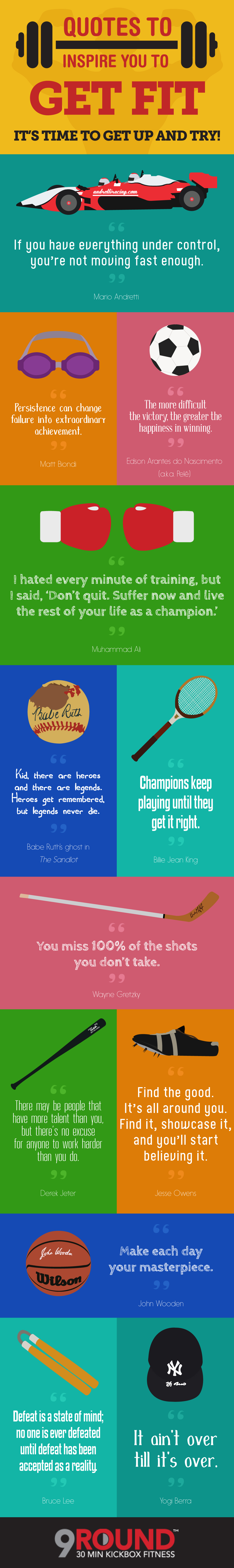 Quotes to Inspire You to Get Fit - 9Round.com - Infographic