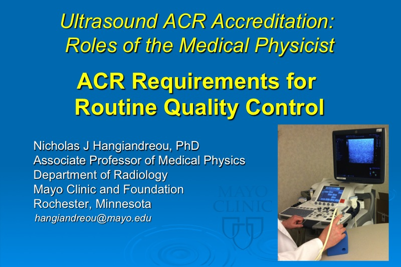 tuasalon cd ultrasound acr roles of the medical physicist acr and the annual survey presented by sandra larson phd