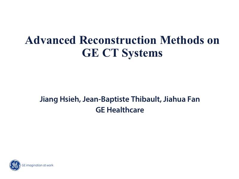 AAPM VL-Iterative Reconstruction in CT
