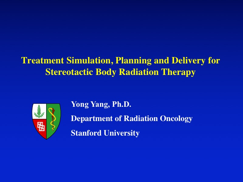 AAPM VL-Imaging, Treatment Planning, and QA for Stereotactic Body