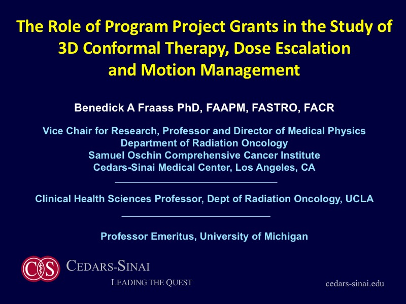 AAPM VL-NIH-Funded Research, Clinical Trials and Program