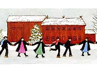Amish Skaters Limited Edition Print by Arlene Fisher