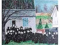 The Gathering Signed Print by Elaine Kozak