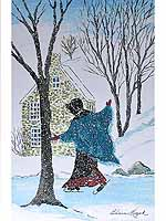 Amish Skater Signed Print by Elaine Kozak