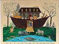 Personalized Noah's Ark Birth Certificate by Elaine Kozak