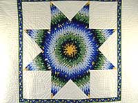 Blue Yellow  and Green Lone Star Country Bride Quilt