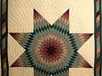 Earth-tone Plaid Lone Star Quilt