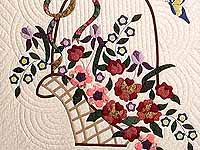 Burgundy Sage and Multicolor Garden Basket Quilt