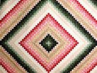 King Green Tan Coral and Rose Color Splash Quilt