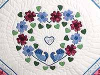 King Blue and Rose Sunshine Sweetheart Quilt