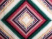 King Teal Green and Rose Color Splash Quilt