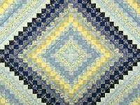 Blue and Yellow Trip Around the World Quilt