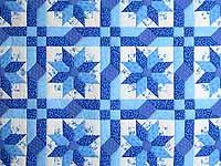 Blue Columbine Quilt