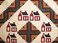 Schoolhouse Log Cabin Quilt