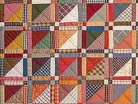 King Earth Colors Homespun Squares Quilt