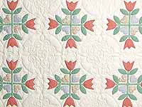 Pastel Country Tulip Album Quilt