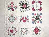 Pastel Applique Album Sampler Quilt