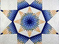 Blue and Yellow Alabama Star Quilt