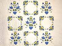 Blue and Yellow Love Dove Album Quilt