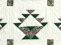 Green Patchwork Basket Quilt