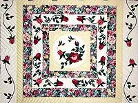 King I Promised You a Rose Garden Quilt