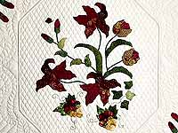 Burgundy and Gold Petal Showcase Quilt