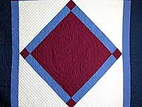 Amish Bright Center Diamond Quilt
