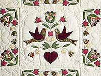 Rose and Sage Love Dove Quilt