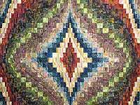 Hand Painted Diamond Bargello Quilt