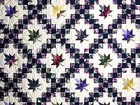 Navy Purple and Multicolor Autumn Splendor Irish Chain Quilt