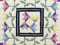 Pastel Lily Patchwork Quilt
