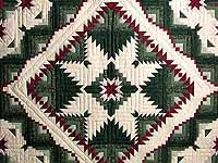 Green and Burgundy Eureka Quilt