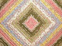 King Moss Rose Yellow and Blue Postage Stamp Quilt