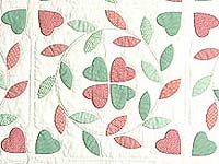 Peach and Green Bridal Wreath Applique Quilt