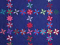 Navy and Multicolor Starry Path Quilt