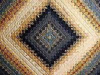 Gold and Blue Color Splash Quilt