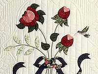 Navy Rose and Moss Lancaster Treasures Quilt