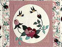 Dark Green and Plum I Promised You a Rose Garden Quilt