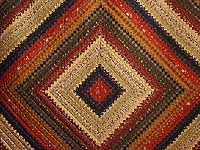 Wheat Burgundy and Moss Postage Stamp Color Splash Quilt