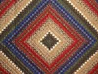 Navy Burgundy Gold and Green Color Splash Quilt