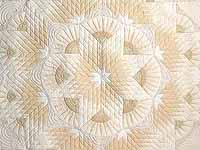 All Neutrals Cathedral Star Quilt