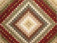 Earth Tones Trip Around the World Quilt