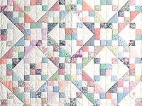 Pastel Jacobs Ladder Quilt