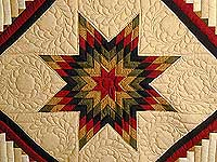 Autumn Colors Lone Star Log Cabin Quilt