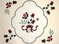King Mint Burgundy and Rose Lancaster Treasures Quilt