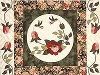 Dark Green and Rose I Promised You a Rose Garden Quilt