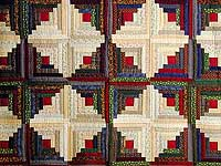 King-Size Autumn Log Cabin Quilt