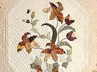 Neutrals and Autumn Gold Petal Showcase Quilt